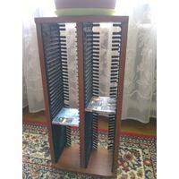 Подставка под компакт диски (80 ед.), деревяная