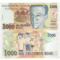 Бразилия 1000 крузеиро образца 1993 года UNC p240