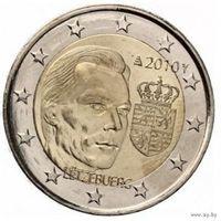 2 евро 2010 Люксембург Герб Великого герцога UNC из ролла