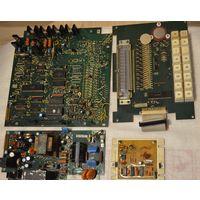 Платы с микросхемами и радиодеталями с рубля