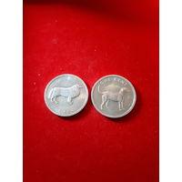Острова Кука 1 цент 2003г. набор монет. собака