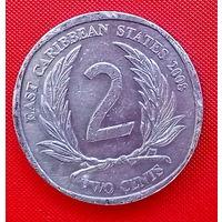 30-19 Восточные Карибы, 2 цента 2008 г.