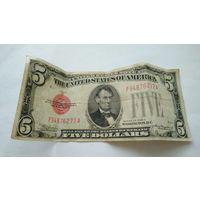 США, 5 долларов 1928 г. Нечастые !!! С р. без М.Ц.