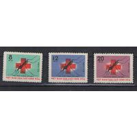Вьетнам Комар Красный крест малярия 1962 год чистая полная серия из 3-х марок