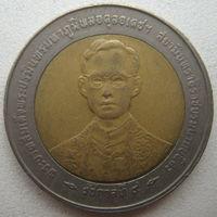 Тайланд 10 бат 1996 г. 50 лет правления Короля Рамы IX (d)