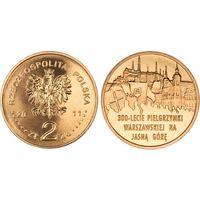 Польша 2 злотых 2011 300-летие Варшавского Паломничества к Ясной Горе UNC