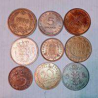 Монеты разных стран мира с рубля. Лот 12 .