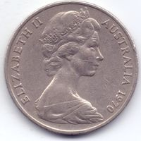 Австралия, 20 пенсов 1970 года.