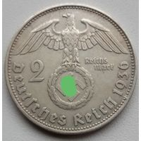 2 рейхсмарки 1936 D