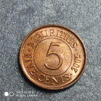 G Маврикий 2005 г. 5 центов