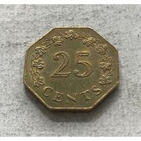 Мальта 25 центов 1975