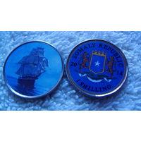 Сомали 1 шилинг 2014г. коллекция парусников #5. распродажа
