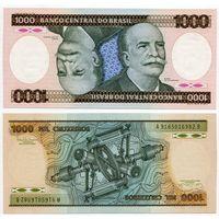 Бразилия. 1000 крузейро (образца 1985 года, P201c, UNC)