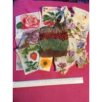 Декупаж Салфетки для декупажа то, что на фото земляника, роза, вишни, цветы