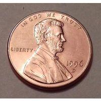 1 цент США 1996, 1996 D, AU