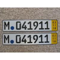 Автомобильный номер Германия M041911