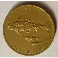 Словения 1 толар1992г.