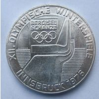 Австрия 100 шиллингов 1976 XII зимние Олимпийские Игры, Инсбрук 1976 (отметка монетного двора Орёл - Халль-ин- Тироль)