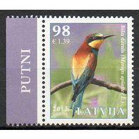 Птицы Латвия 2013 год 1 чистая марка