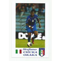 Stefano Chuka OKAKA(Италия). Живой автограф на фотографии.