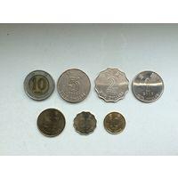 Гонконг, 7 монет (10,5,2,1 доллар,50,20,10центов)