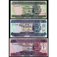 Соломоны Соломоновы острова - набор (3 банкноты) 2,5,10 долларов 2002-2009 P-25,26, 27 UNC пресс