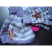 Комплект: берет и перчатки Winx