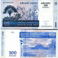Мадагаскар  100 ариари  2004 год  UNC