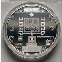 Нидерланды 5 евро, 2011 100 лет Монетному двору Нидерландов  3-3-1