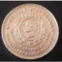 """Английская настольная медаль """"Тоннель под Темзой 1824-1842"""""""