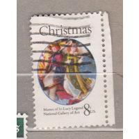 Рождество религия с правым боковым полем США 1972 год лот 1063 можно раздельно