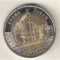 Польша 5 злотый 2021 Крановые ворота в Гданьске