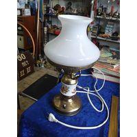Советская настольная латунная лампа, 38 см.