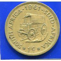 Южная Африка , ЮАР 1 цент 1961