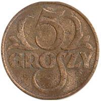 Польша 5 грошей 1930г.
