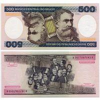 Бразилия. 500 крузейро (образца 1981 года, P200b, UNC)