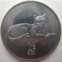 Северная Корея 1/2 чона 2002 г. Мир животных. Леопард