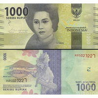 Индонезии 1000 рупий  2016 год  UNC