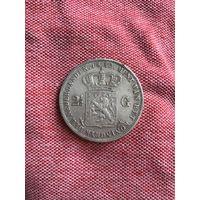Нидерланды 2 1/2 гульдена 1852 г.