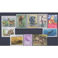 [538] Фауна.Дикие животные. 10 чистых марок без клея.