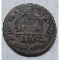 Россия, деньга, 1740, медь
