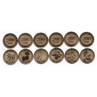 Армения 200 драм 2014 год набор Дикие деревья Армении (6 монет) UNC