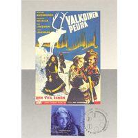 """Картмаксимум. 1996. Финляндия. Постер фильма """"Белый олень""""."""