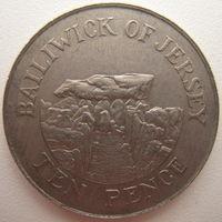 Джерси 10 пенсов 1988 г. (g)