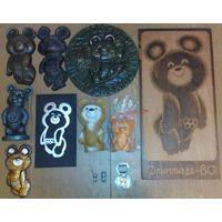 Коллекция Олимпийский Мишка (официальный талисман маскот ХХII Олимпийские Игры, Москва-80, mascot). (возможен обмен)