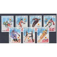 [1133] Никарагуа 1984. Спорт.Зимняя Олимпиада. Гашеная серия.