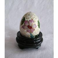 Яйцо миниатюрное Клуазоне на подставке