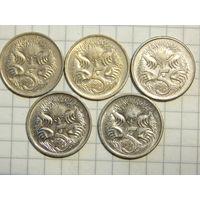 Австралия 5 центов (список)