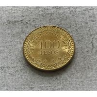 Колумбия 100 песо 2014 в блеске
