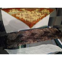 Платки натуральные шейные из шелка и крепдешина